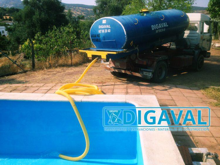 Suministro de agua no potable para el llenado de piscinas.