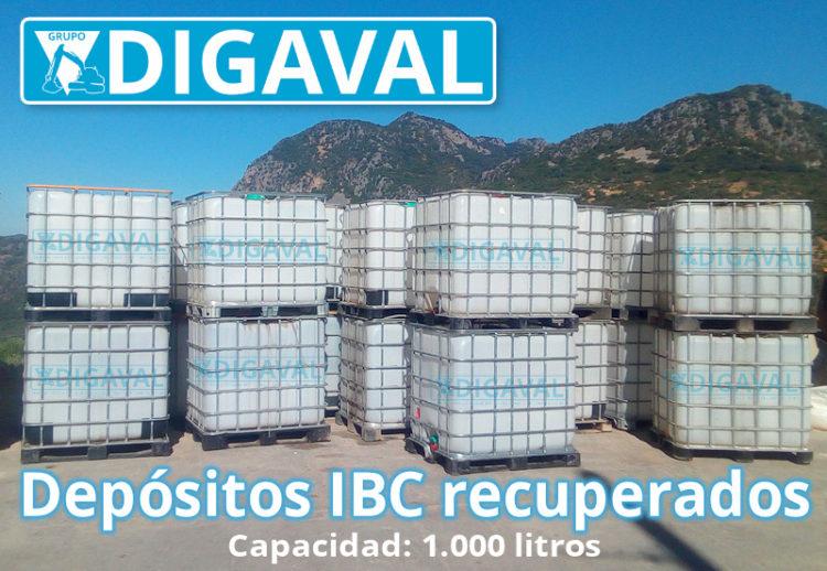 DIGAVAL tiene en almacén depósitos IBC recuperados con capacidad de 1000 litros